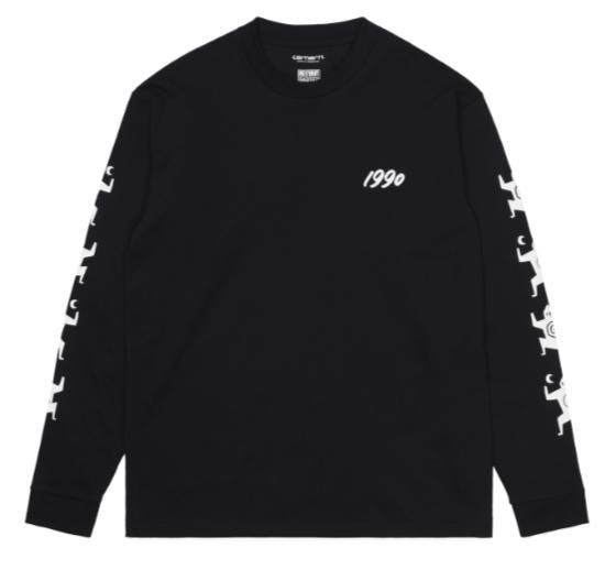 "Carhartt WIP L/S Ninja Tune T-Shirt ""Black/White"" I029378"
