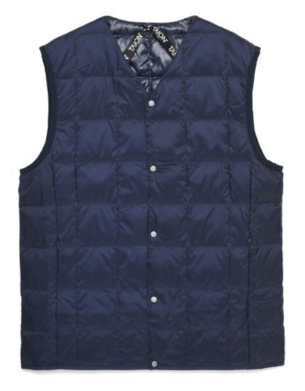 "TAION V Neck Button Down Vest ""Navy"" Taion-001"