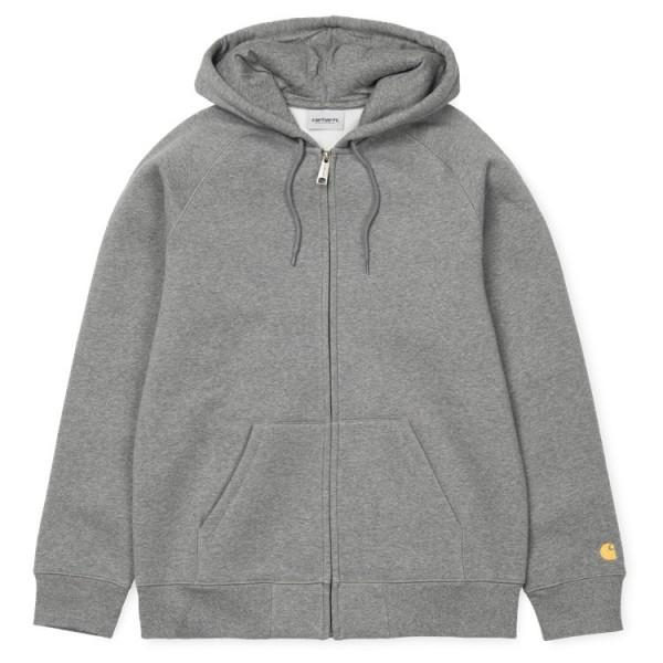"Carhartt WIP Hooded Chase Jacket ""Dark Grey Heather"" I026385-Copy"