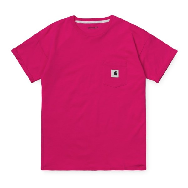 "Carhartt WIP W´S/S Carrie Pocket T-Shirt ""Ruby Pink / Ash Heather"" I021890"