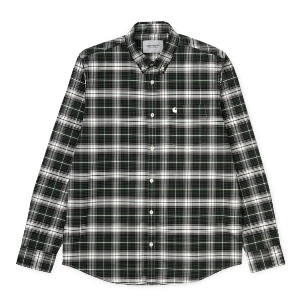 "Carhartt WIP L/S Linville Shirt ""Chrome Green"" I026801"