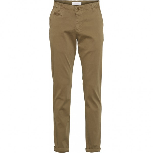 "Knowledge Cotton Chuck Regular Stretched Chino Pant ""Burned Olive"" 70230"