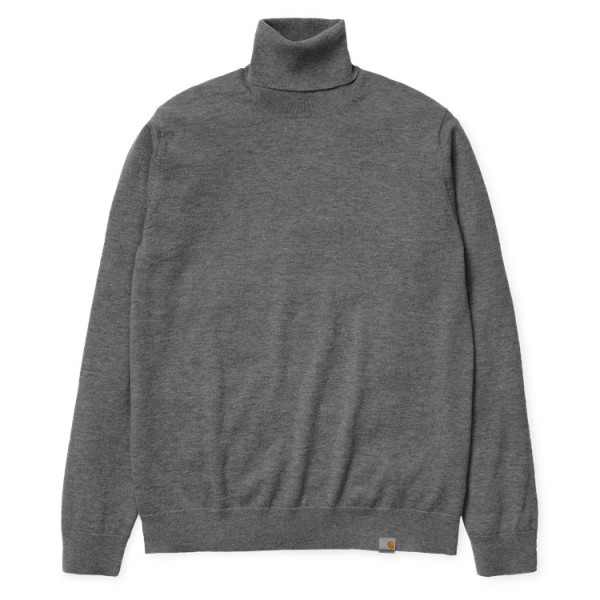 "Carhartt WIP Playoff Turtleneck Sweater ""Dark Grey Heather"" I023368"