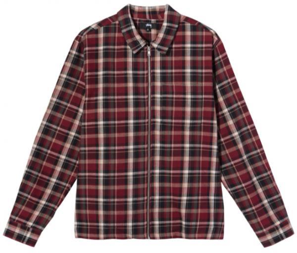 Classic Zip Up Plaid Ls Shirt