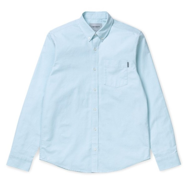 "Carhartt WIP L/S Button Down Pocket Shirt ""Window"" I022069"