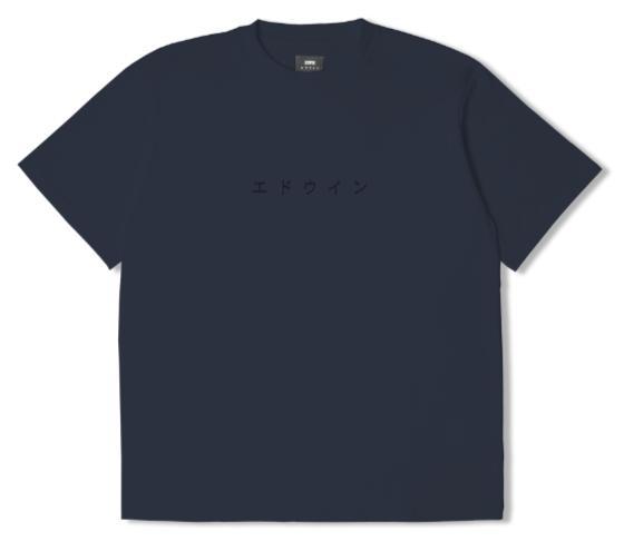 Katakana Embroidery TS Cotton Single Jersey