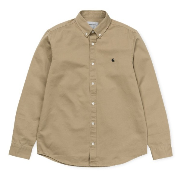 "Carhartt WIP L/S Madison Shirt ""Leather / Black"" I023339"