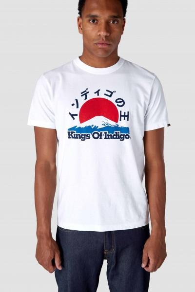"""Kings Of Indigo Darius Tee """" White Mount Fuji"""" K180754070"""