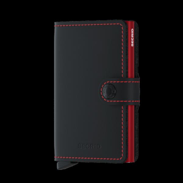 "SECRID Miniwallet Matte ""Black & Red"""