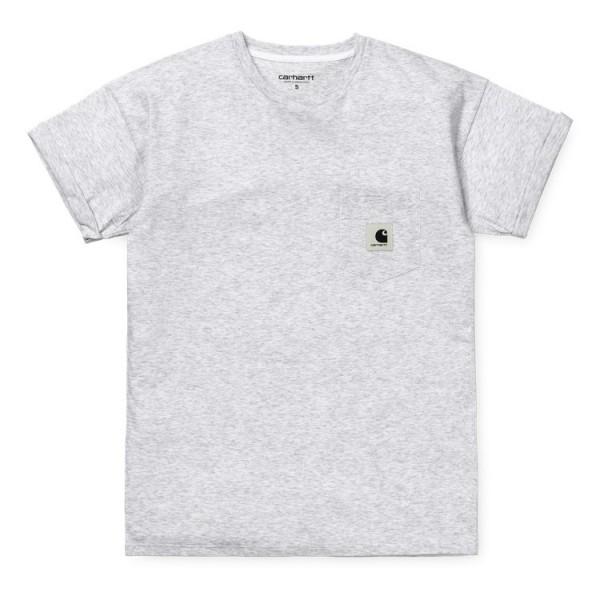"Carhartt WIP W´S/S Carrie Pocket T-Shirt ""Ash Heather"" I021890"