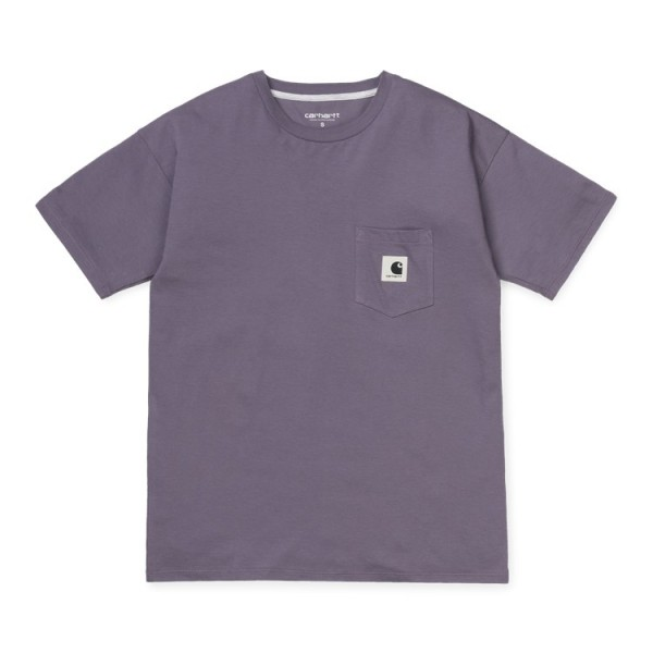 "Carhartt WIP W´S/S Carrie Pocket T-Shirt ""Decent Purple / Ash Heather"" I021890"