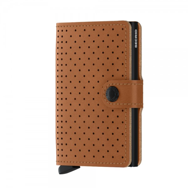 "SECRID Miniwallet Perforated ""Cognac"""