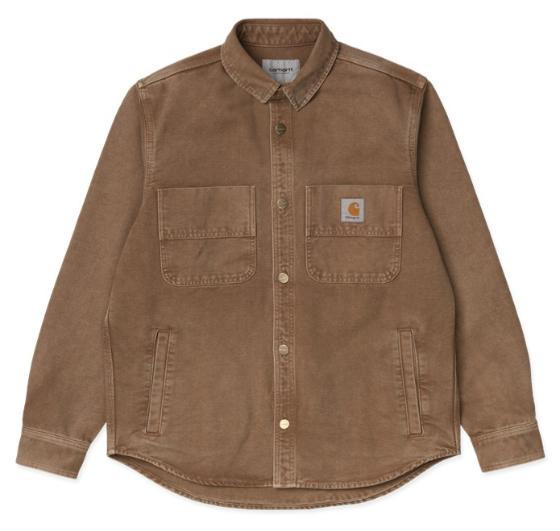 "Carhartt WIP Glenn Shirt Jac ""Hamilton Brown worn canvas"" I028662"