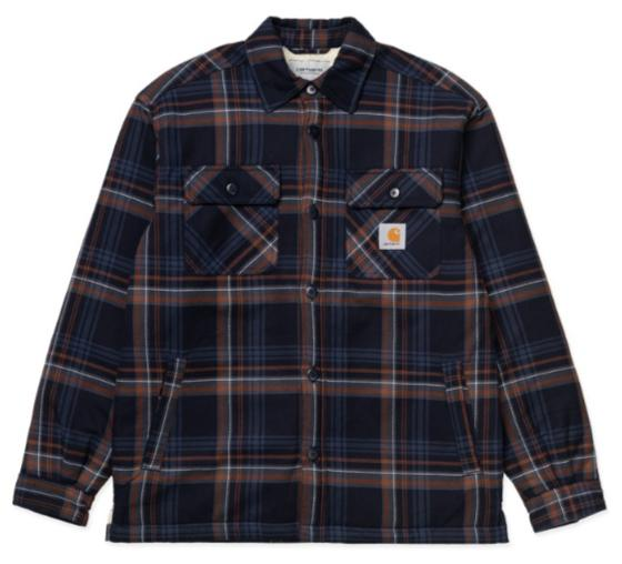 "Carhartt WIP Aiden Shirt Jac ""Aiden Check, Dark Navy"" I028216"