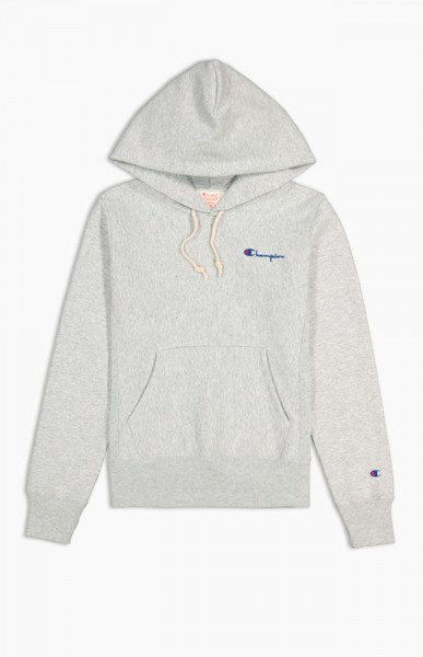 "Champion Reverse WMNS Small Script Hooded Sweatshirt ""Grey"" 111556"