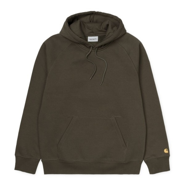 """Carhartt WIP Hooded Chase Sweat """"Cypress /Gold"""" I026384"""