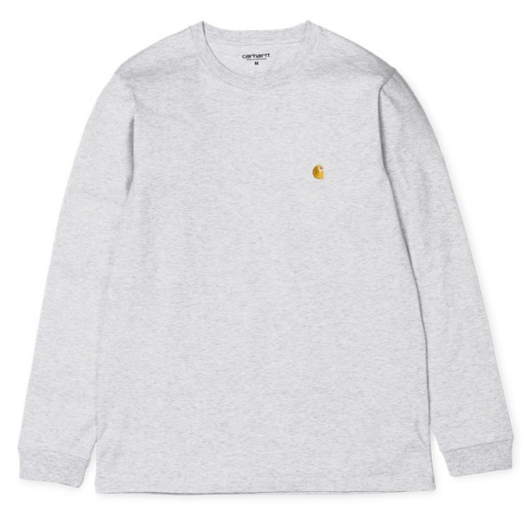 """Carhartt WIP L/S Chase T-Shirt """"Ash Heather / Gold"""" I026392"""