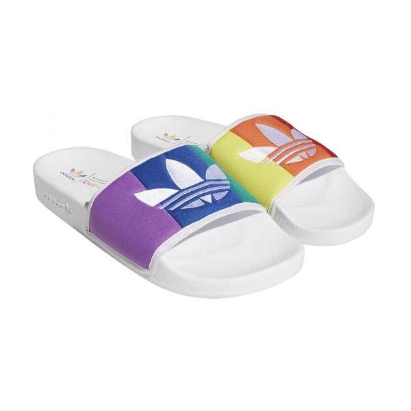 "adidas ADILETTE PRIDE ""Ftwr White / Orange / Scarlet"" EF2317"
