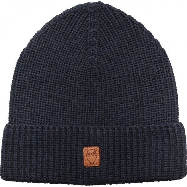 "Knowledge Cotton Ribbing Hat ""Dark Denim"" 82214"
