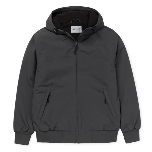 "Carhartt WIP Hooded Sail Jacket ""Blacksmith / Black"" I022721"