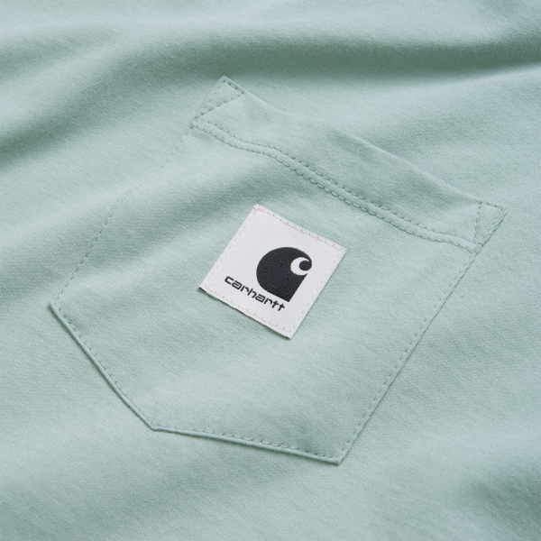 """Carhartt WIP W´S/S Carrie Pocket T-Shirt """"Frosted Green"""" I028439"""