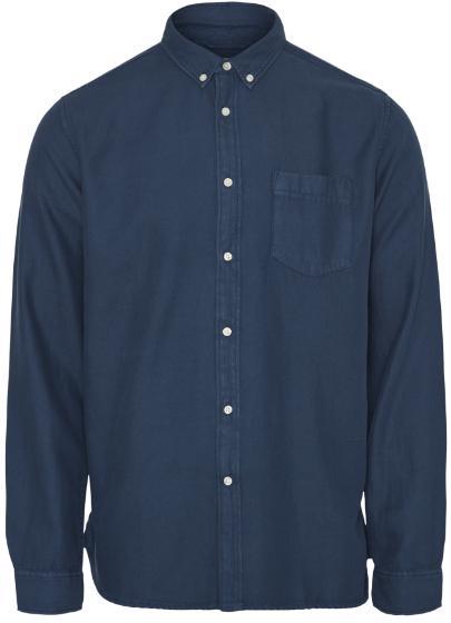 """Knowledge Cotton Latch L/S tencel Shirt """"Moonlite Ocean"""" 90686"""