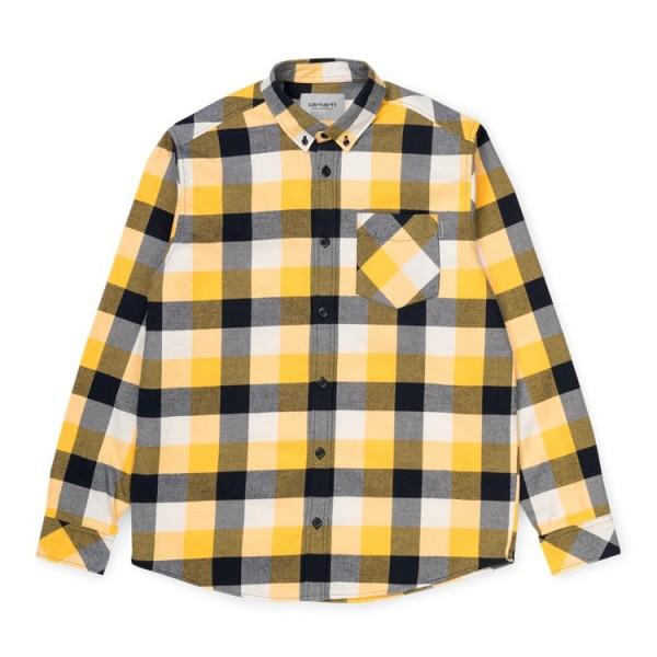 "Carhartt WIP L/S Keagen Shirt ""Halleck Check/Sunflower"" I027682"