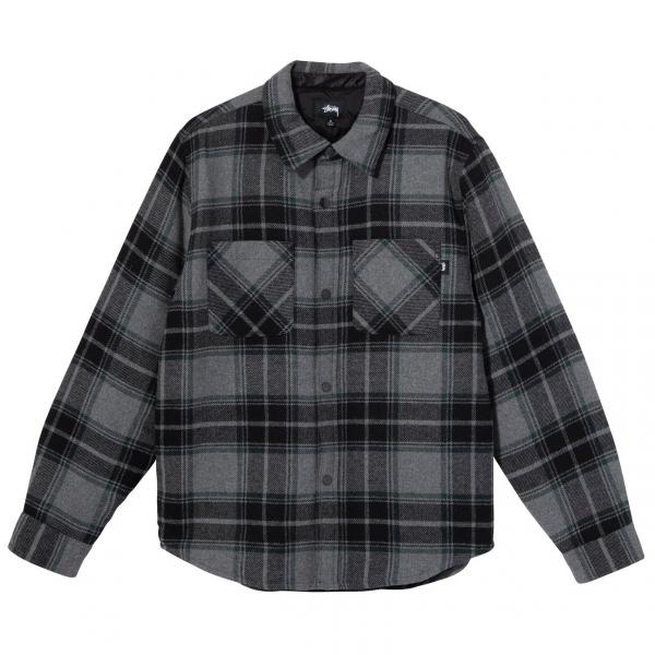 """Stussy Max Plaid Quilted Shirt """"Grey"""" 1110122 / 0008"""