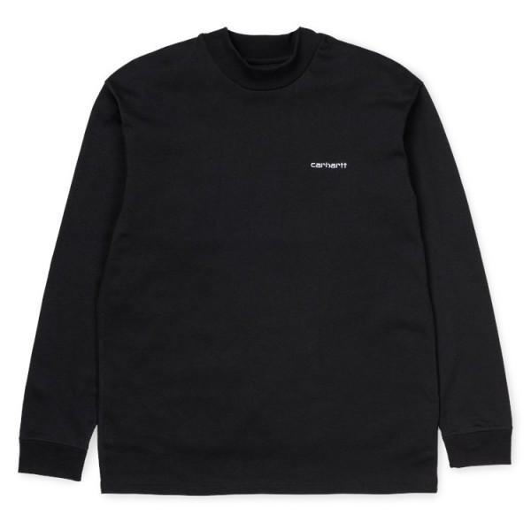 "Carhartt WIP L/S Mockneck Script Embro T-Shirt ""Black / White"" I027040"