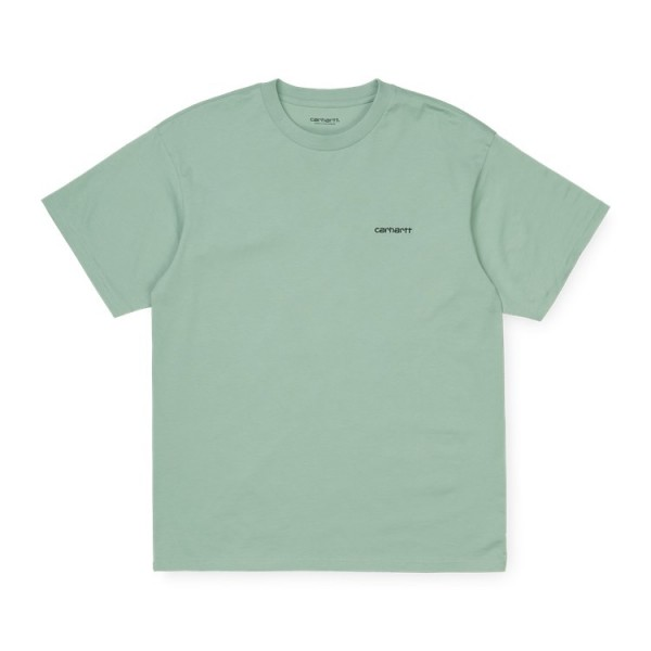 "Carhartt WIP S/S Script Embroidery T-Shirt ""Frosted Green / Black"" I025778"