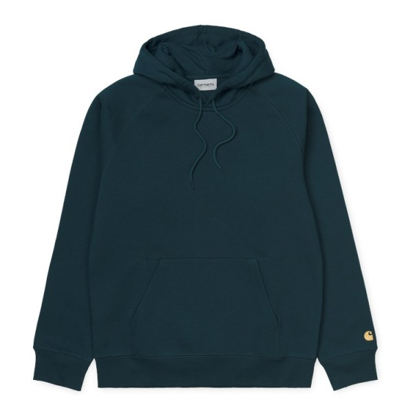 "Carhartt WIP Hooded Chase Sweat ""Duck Blue/Gold"" I026384"