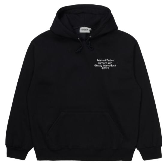 "Carhartt WIP Hooded Ghostly Sweat ""Black"" I029374"