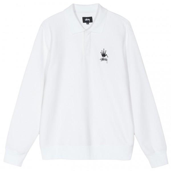 """Stussy Polo Fleece """"White"""" 118362 / 1201"""