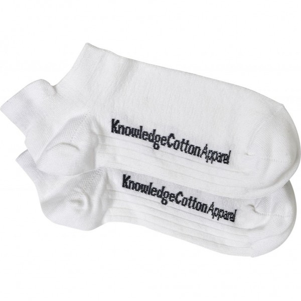 "Knowledge Cotton 2 Pack Bamboo Footies Socks ""Star White"" 83061"