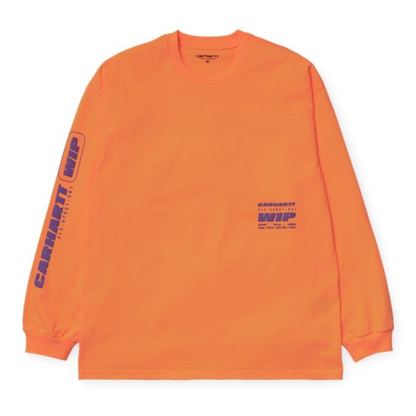 "Carhartt WIP L/S Inter T-Shirt ""Pop Orange"" I027819"