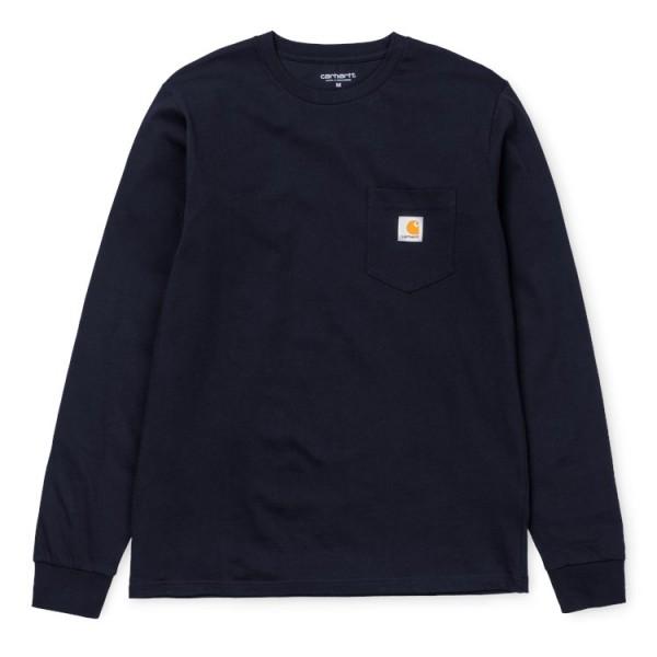 """Carhartt WIP L/S Pocket T-Shirt """"Dark Navy"""" I022094"""