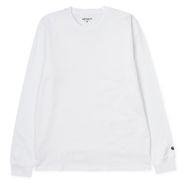 "Carhartt WIP L/S Base T-Shirt ""White / Black"" I023856"