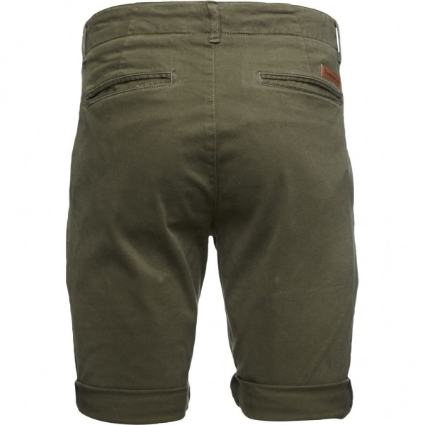 "Knowledge Cotton Stretch Chino Regular Shorts ""Total Eclipse"" 50173"