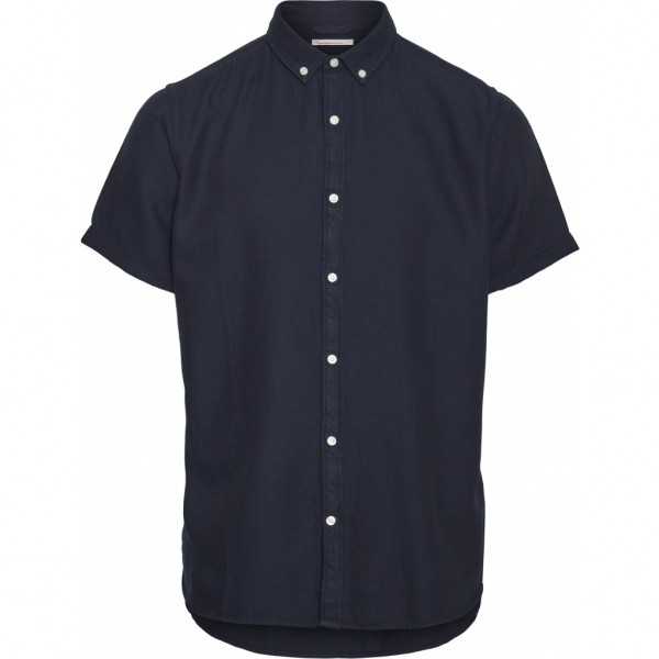 "Knowledge Cotton Larch SS tencel Shirt ""Total Eclipse"" 90778"