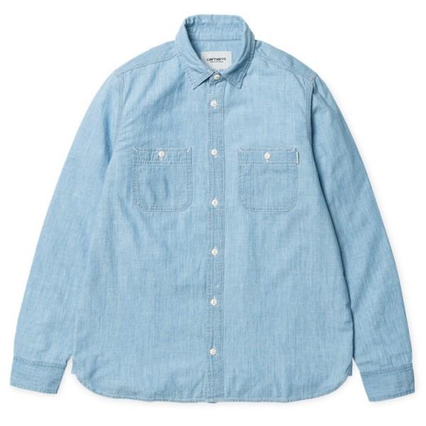 "Carhartt WIP L/S Clink Shirt ""Blue stone bleached"" I012297"