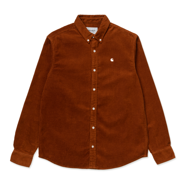 "Carhartt WIP L/S Madison Cord Shirt ""Brandy / Wax"" I025247"