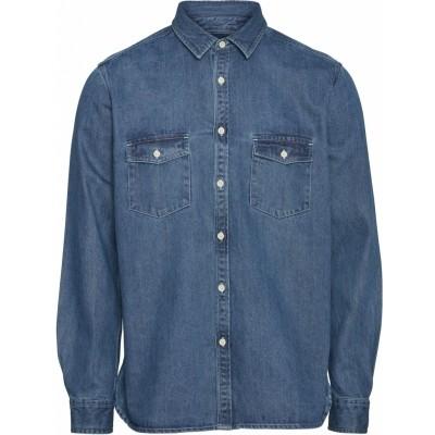 """Knowledge Cotton Larch LS denim shirt """"Vintage Indigo"""" 90821"""