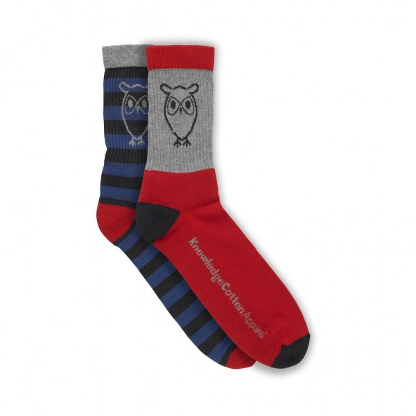 "Knowledge Cotton Tennis Socks ""Total Eclipse"" 83014"