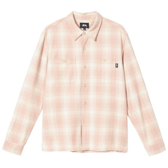"Stussy Beach Plaid Shirt ""dusty rose"" 1110128 / 18982"