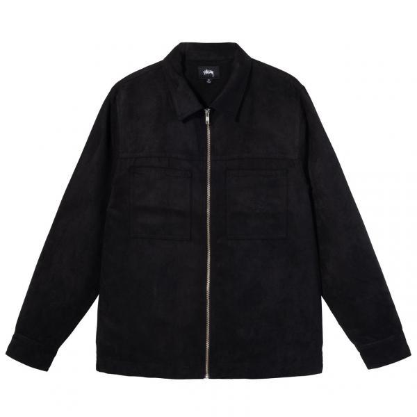 "Stussy Mikro Suede Work Shirt ""Black"" 1110134 / 0001"