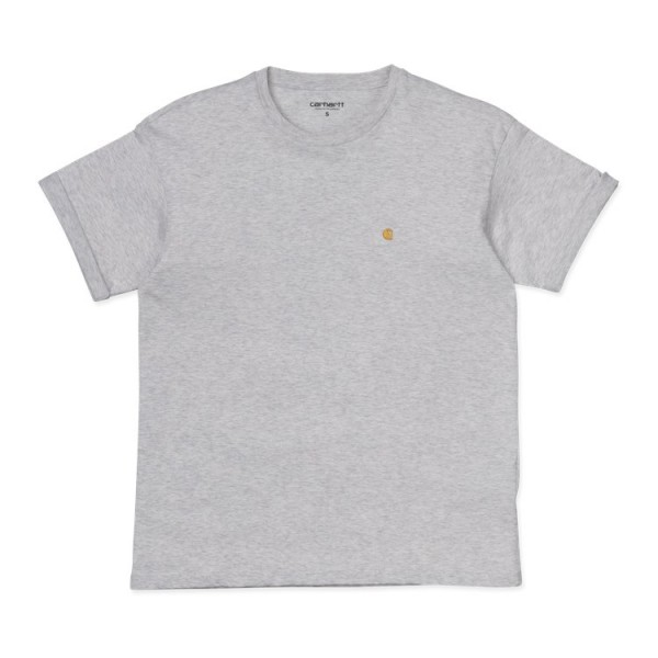 "Carhartt WIP W´S/S Chasy T-Shirt ""Ash Heather/ Gold"" I027581"