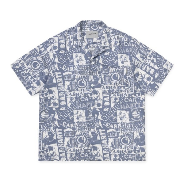 """Carhartt WIP S/S Collage Shirt""""Collage print, Mossa White"""" I027532"""