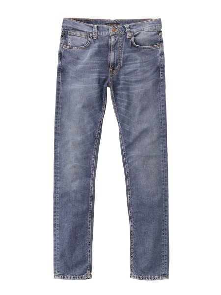 "Nudie Jeans Lean Dean Jeans ""Mid Blue Orange"" 112942"