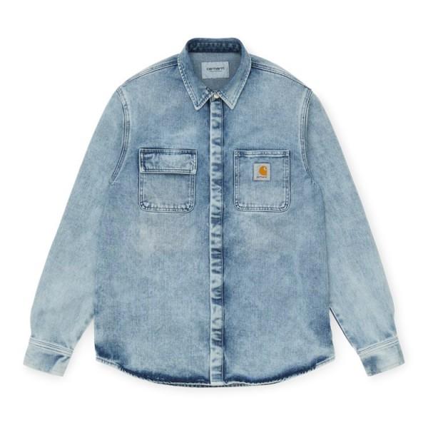 "Carhartt Salinac Shirt Jac ""Blue light used wash"" I027545"