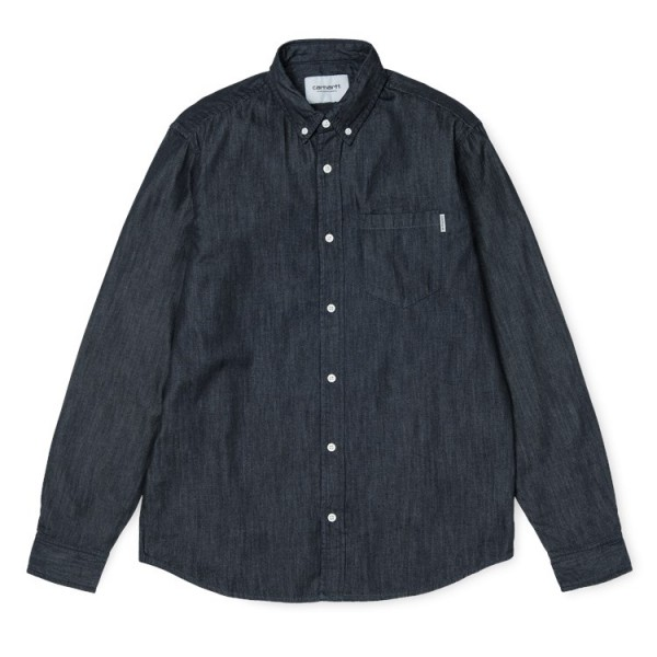 "Carhartt WIP L/S Civil Shirt ""Blue rinsed"" I012382"